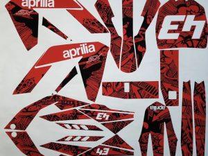 Kit DÉco Aprilia Rx 50 Apres 2006 Full Red