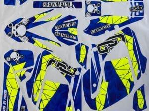 Kit Déco 125 Dtx Dtr Dt Yamaha Fluo Grenzgaenger