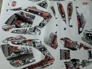 Kit Deco Yamaha Dt Dtx Dtr Rockstar Red
