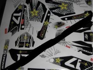 Rockstar Yellow Kit Deco Yamaha Dt Dtr Dtx