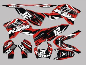 kit déco ktm exc factory red white