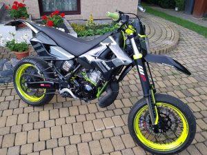 Kit DÉco Aprilia Mx 125 Black And Yellow Moto