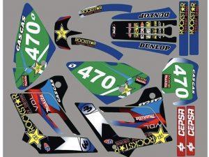 Kit DÉco Gas Gas Ec 2002 2006 Rockstar Bleu