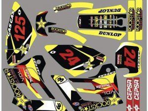 Kit DÉco Gas Gas Ec 2002 2006 Rockstar Jaune