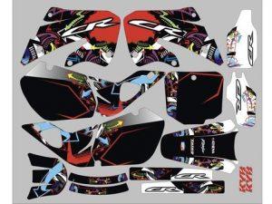 Kit DÉco Honda Cr 125 250 1998 1999 Color