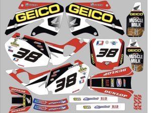Kit DÉco Honda Cr 125 250 1998 1999 Geico