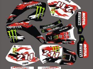 Kit DÉco Honda Cr 125 250 2000 2001 Monster