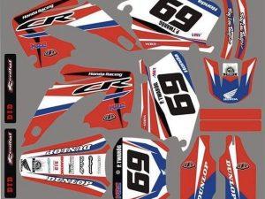Kit DÉco Honda Cr 125 250 2000 2001 Racing