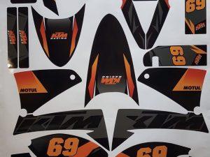 Kit DÉco Ktm 640 Lc4 Black Orange