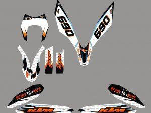 Kit DÉco Ktm 690 Smc 2010 Rtr