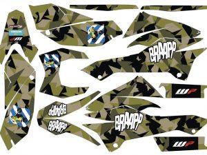 Kit DÉco Ktm 690 Smcr 2012 Camouflage