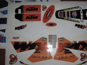 Kit DÉco Ktm Exc 2004 2007 Origine #1