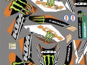 Kit DÉco Ktm Sx 2005 2006 Monster