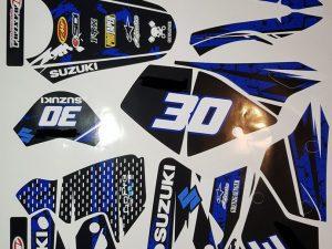 Kit DÉco Suzuki Drz 400 Blue Grenzgaenger