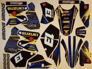 Kit DÉco Suzuki Drz 400 Yellow Blue #2