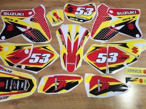 Kit DÉco Suzuki Drz 400 Yellow Red