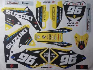 Kit DÉco Suzuki Rmz 450 2008 2012 Yellow Blue