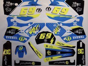 Kit DÉco Yamaha Wrf Wr 250 450 2003 2006 (non Fluo, Fluo En Option)