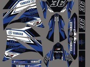 Kit DÉco Yamaha Xt 660 Avant 2006 Blue