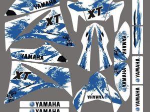 Kit DÉco Yamaha Xt 660 Avant 2006 Blue Line
