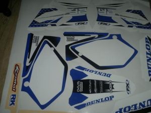 Kit DÉco Yamaha Yz 125 250 2002 2012 Blue