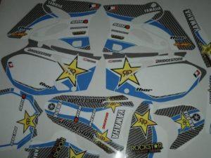 Kit DÉco Yamaha Yz 125 250 2002 2012 Carbone