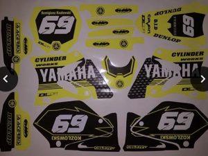 Kit DÉco Yamaha Yz 125 250 2002 2012 Jaune (non Fluo, Fluo En Option)