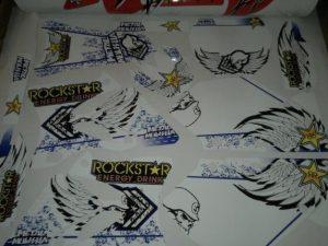 Kit DÉco Yamaha Yz 125 250 2002 2012 Rockstar