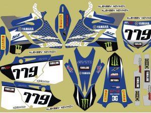 Kit DÉco Yamaha Yz 125 250 2015 2016 Monster