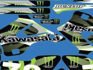 Kit Deco Kawasaki Kx 125 250 1994 1998 Monster #2