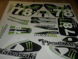 Kit Deco Kawasaki Kx 125 250 1994 1998 Monster