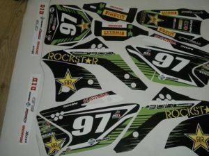 Kit Deco Kawasaki Kxf 250 2006 2008 Green Rockstar