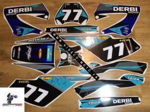 Kit DÉco Derbi Xtreme Xrace Avant 2011 Blue