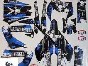 Kit DÉco Derbi Xtreme Xrace Avant 2011 Blue Grenzgaenger