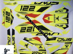 Kit DÉco Derbi Xtreme Xrace Avant 2011 Fluo