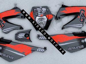 Kit DÉco Derbi Xtreme Xrace Avant 2011 Grey Grenzgaenger