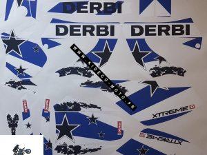 Kit DÉco Derbi Xtreme Xrace Avant 2011 Simple Blue