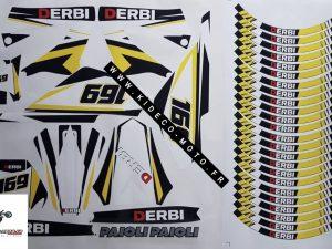 Kit DÉco Derbi Xtreme Xrace Avant 2011 Yellow