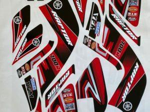 Kit Déco Yamaha Quad 700 Raptor R Red Black