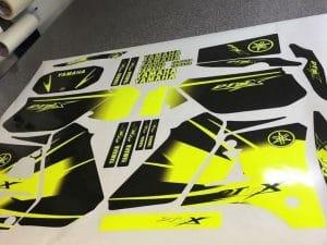 Kit Deco Dtx Yamaha 125 Dt Dtr Jaune Fluo
