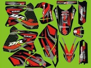 Kit Déco 400 Drz Suzuki Red