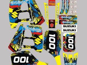 Kit Deco Suzuki 125 Tsr Yellow