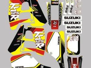 Kit Deco Suzuki 125 Tsr Yellow White