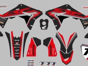 Maquette 450 Crf Noir Rouge Mapyl