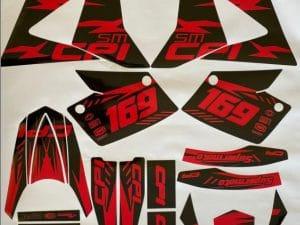 Kit Déco 50 Cc Cpi Red Black