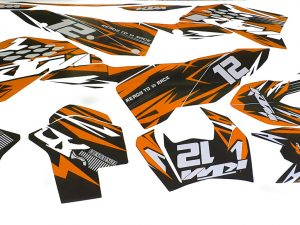 Kit Deco Ktm Exc Excf Sx Sxf 2009 2011 Enduro Supermotard Motocross Orange