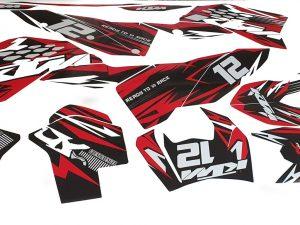 Kit Deco Ktm Exc Excf Sx Sxf 2009 2011 Enduro Supermotard Motocross Red