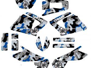 Kit Deco Moto 125 Dtr Dtx Camouflage Bleu