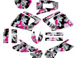 Kit Deco Moto 125 Dtr Dtx Camouflage Rose