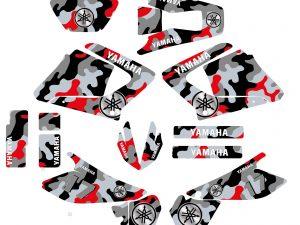 Kit Deco Moto 125 Dtr Dtx Camouflage Rouge